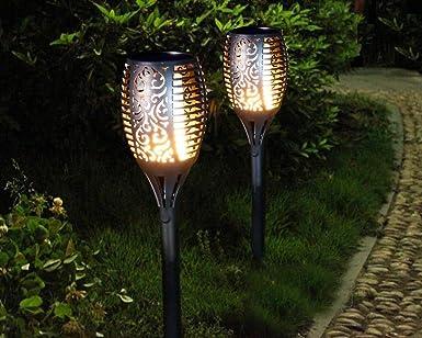 Fabulous Solarleuchten Garten Fackeln Gartenbeleuchtung Flickering YK42