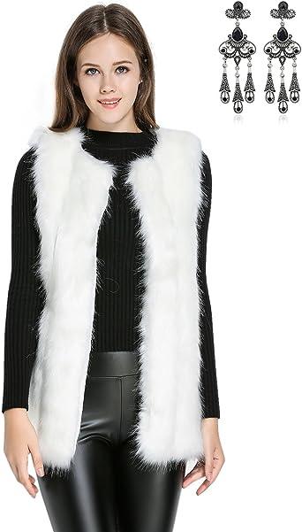 nettoyer veste sans manche en fourrure