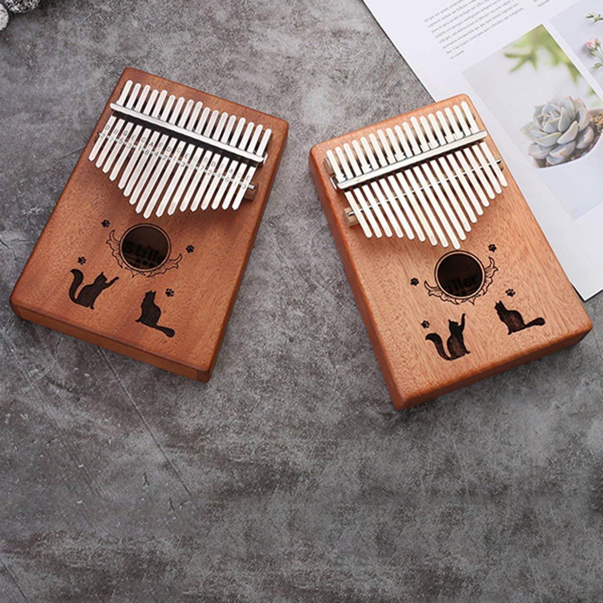 17 tasti Thumb Piano C bambini Illuminazione casa Istruzione Kalimba 10 pulsanti Pocket africano strumento di legno