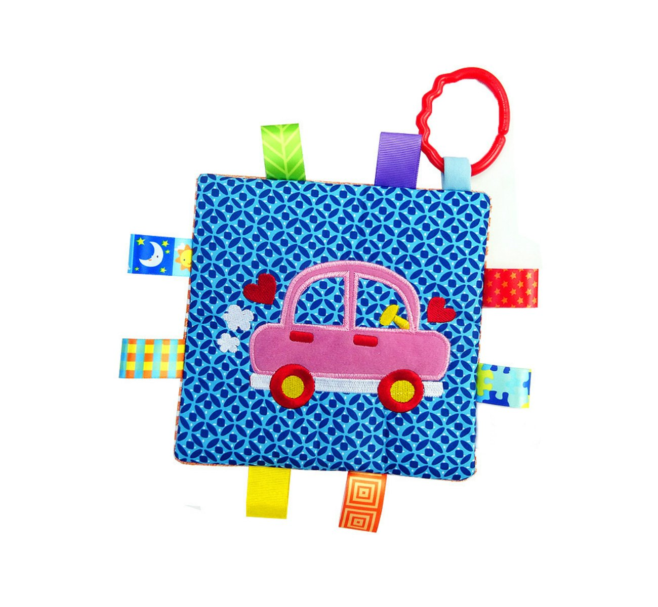 Little Tag Style Colors Security Comforting Teether Blanket - Car Theme