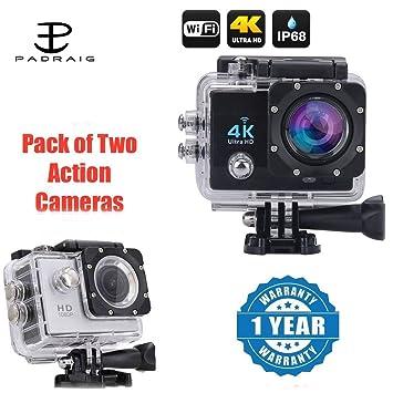 2c3dd4e04 Buy Padraig Wi-Fi 4K Waterproof Sports Action Camera - 4K Ultra HD ...