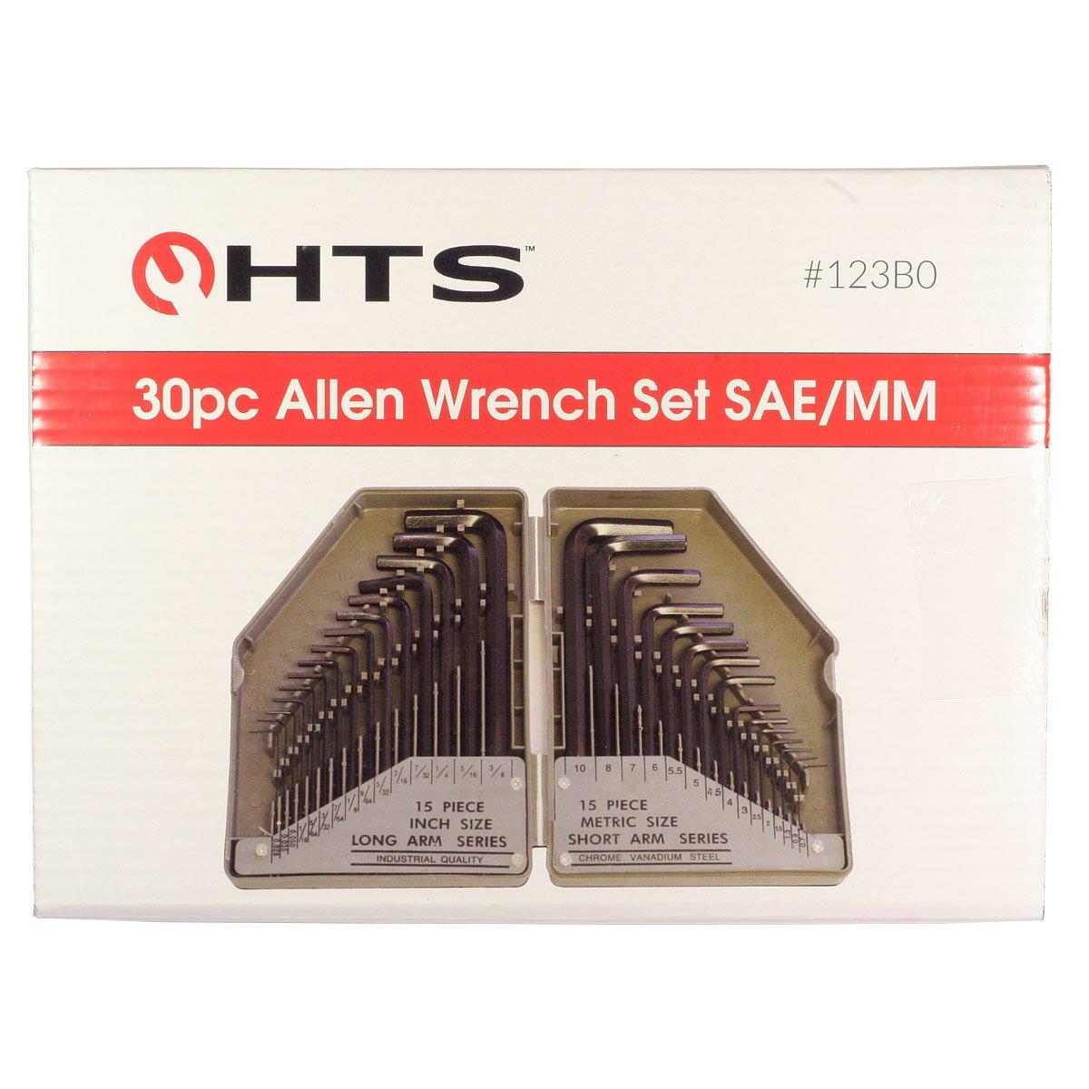 HTS 123B0 30 Pc Allen Wrench Set SAE//Metric