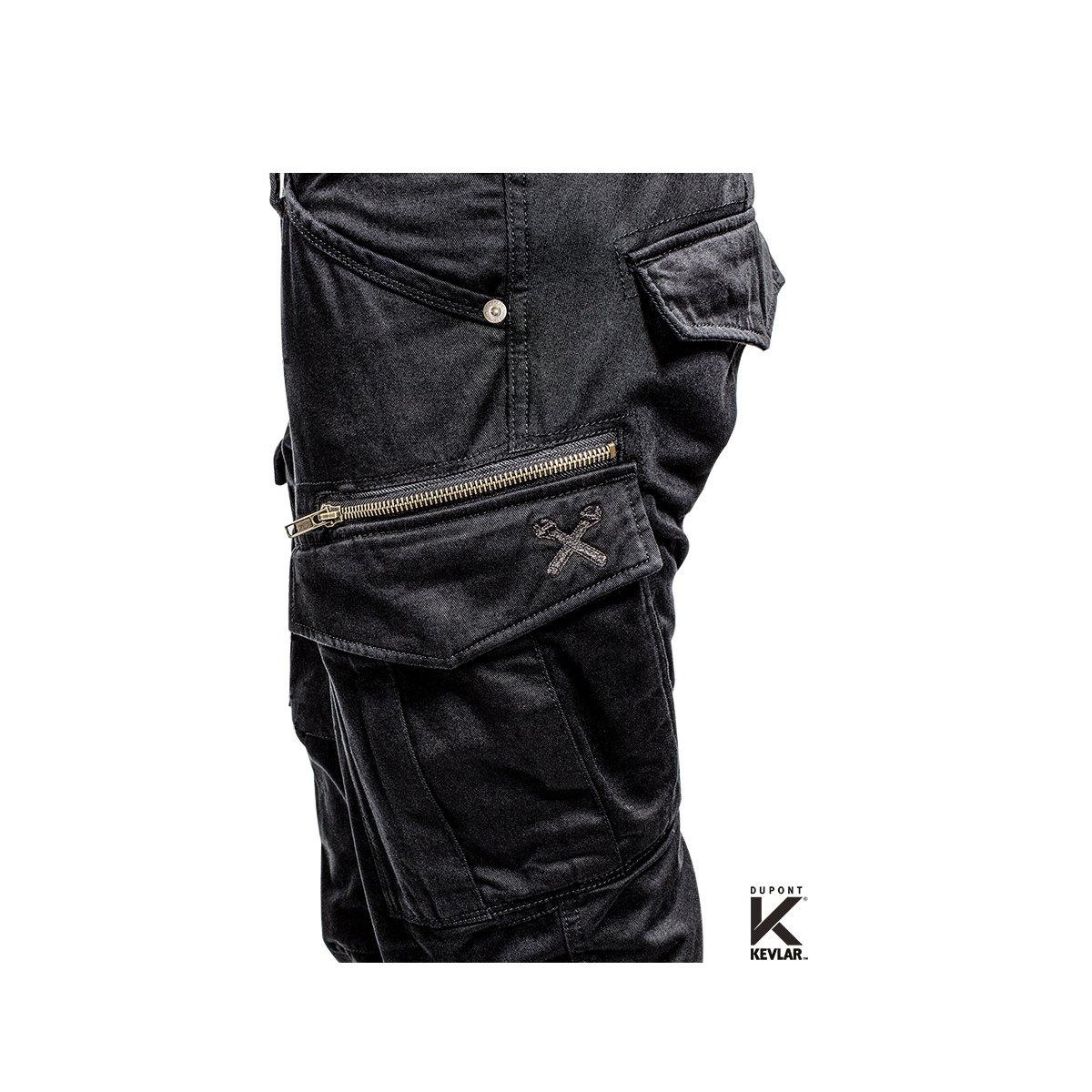 XTM Made with DuPont Kevlar Motorrad Cargo Hose Einsetzbare Protektoren Hose mit Seitentaschen Motorradhose mit Kevlar Atmungsaktiv Camouflage John Doe Stroker Cargo XTM