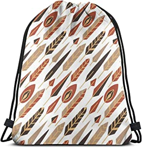 Backpack Drawstring Bags Cinch Sack String Bag Gypsy Style Art Freedom Simplicity Sackpack For Beach Sport Gym Travel Yoga Camping Shopping School Hiking Men Women