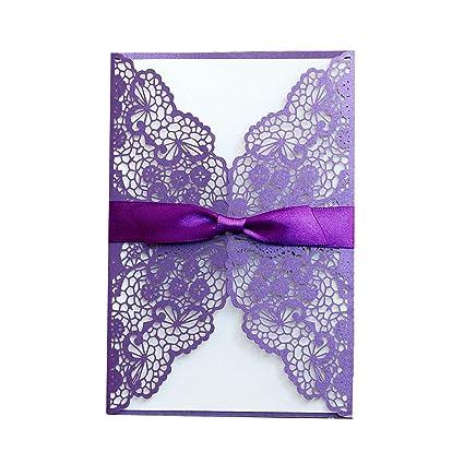 amazon com feiyi 25 pieces lot laser cut lace wedding invitations