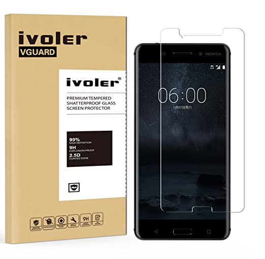 8 opinioni per Pellicola Vetro Temperato Nokia 6, iVoler® ** [Protezione Antigraffi]