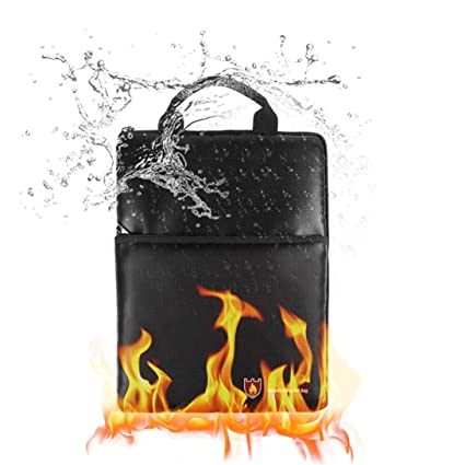 Colorful Fireproof Document Fire Resistant Pouch Document Waterproof Bag for Money Safe TM