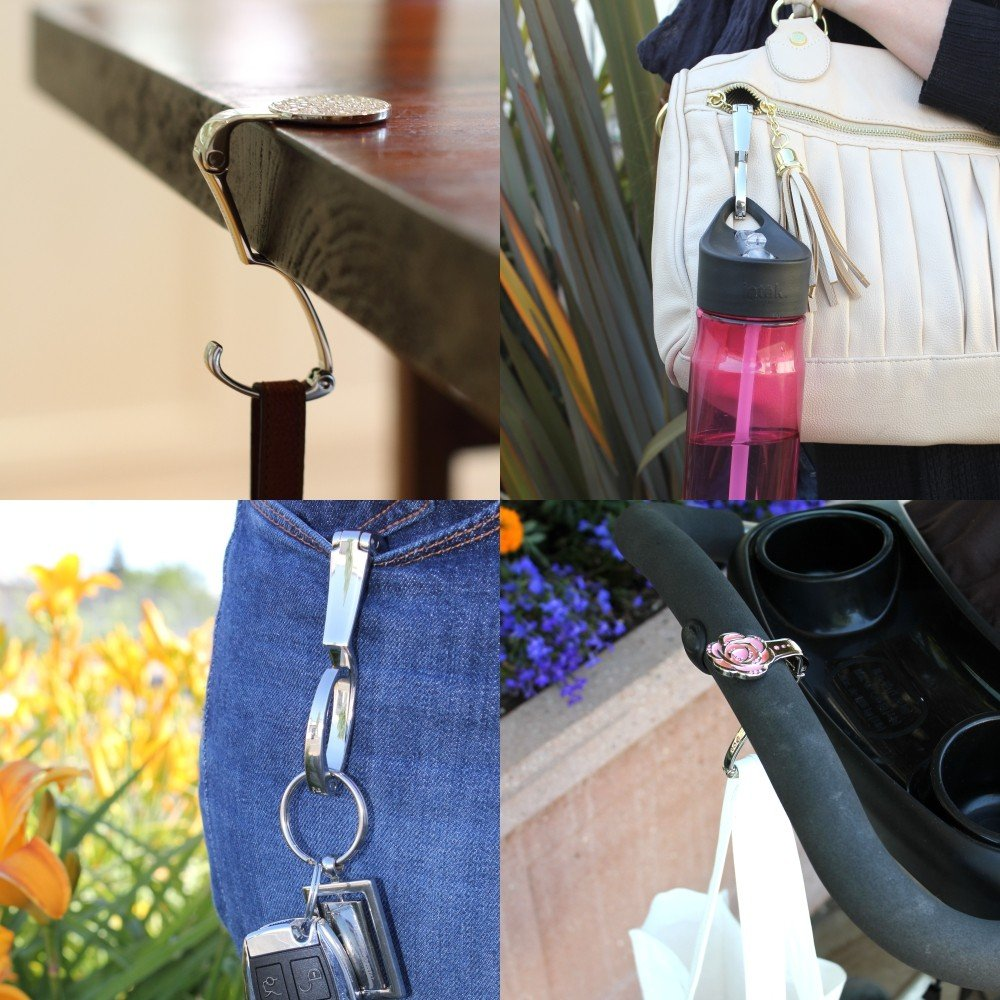 Baseball Mom Everything Purse Hanger Handbag Hook Retractable Folding
