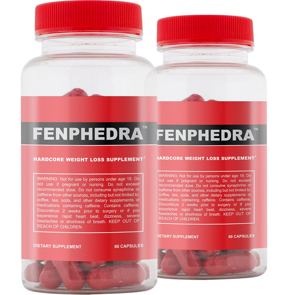 Fenphedra (60 Capsules) 2 Pack - Top Rated Diet Pill - Weight Loss Supplement