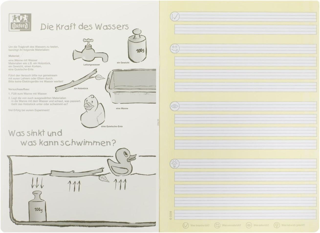 paquete de 10 90 g//m2 A4 sistema de aprendizaje l/íneas 1F Cuaderno clase 1 color amarillo 16 hojas Oxford 100050094