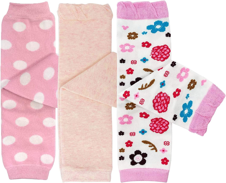 Bowbear 3 Pair Delightful Designs Baby Leg Warmers