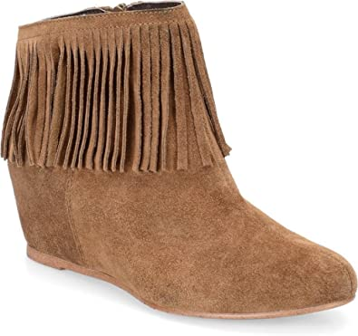 Riverton Round Toe Suede Ankle Boot