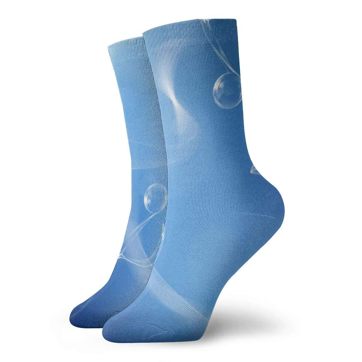 Blue Music Novelty Crew Socks For Ladies Cotton Socks