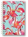 Studio Oh! SJ004 Hardcover Spiral Notebook, Flamboyant Flamingos