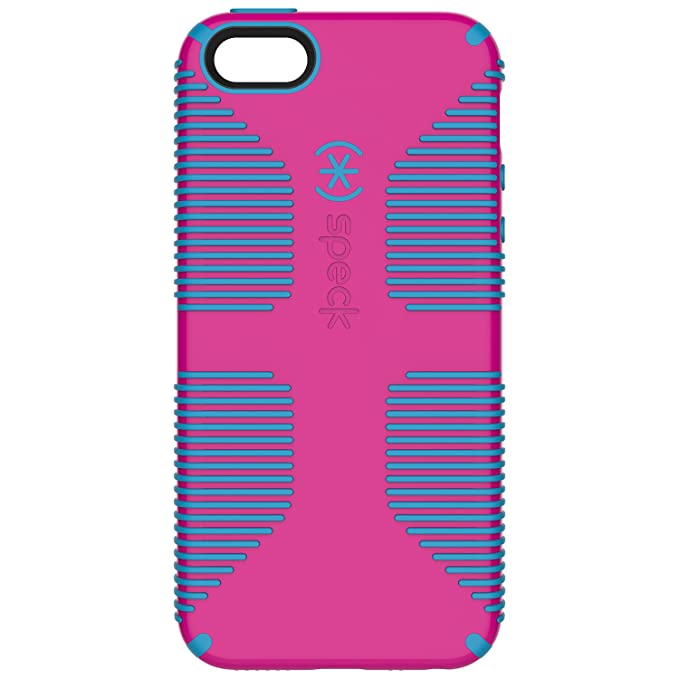the best attitude 67c98 8325d Speck Products CandyShell Grip Cell Phone Case for iPhone SE/5/5S - Retail  Packaging - Lipstick Pink/Jay Blue