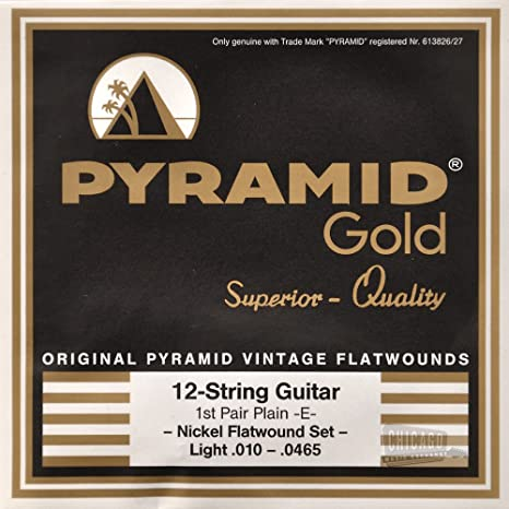 Pyramid Gold 12 Luz cuerdas para guitarra eléctrica 10 – 465 ...