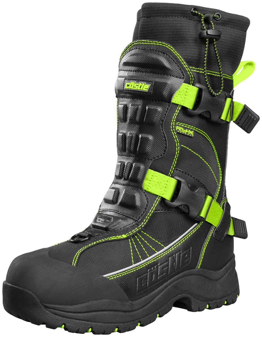 Castle X Barrier 2 Mens Snowmobile Boots Hi-Vis 10 USA Castle X Racewear