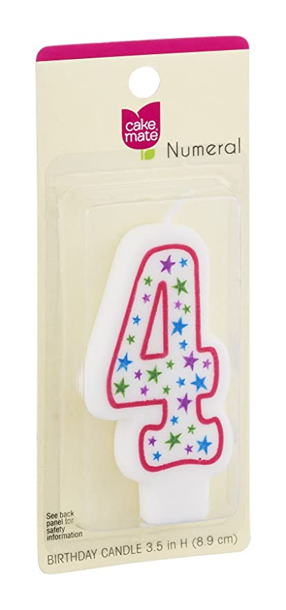 Cake Mate Numeral 4 - Vela de cumpleaños (12 Unidades ...