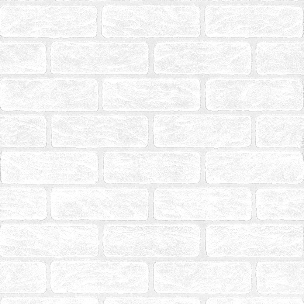 Superfresco Paintable Brick Effect White Wallpaper 93744: Amazon.co.uk: DIY  U0026 Tools