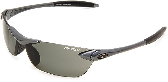 ede545a907 Amazon.com  Tifosi Seek 0180500351 Polarized Wrap Sunglasses ...