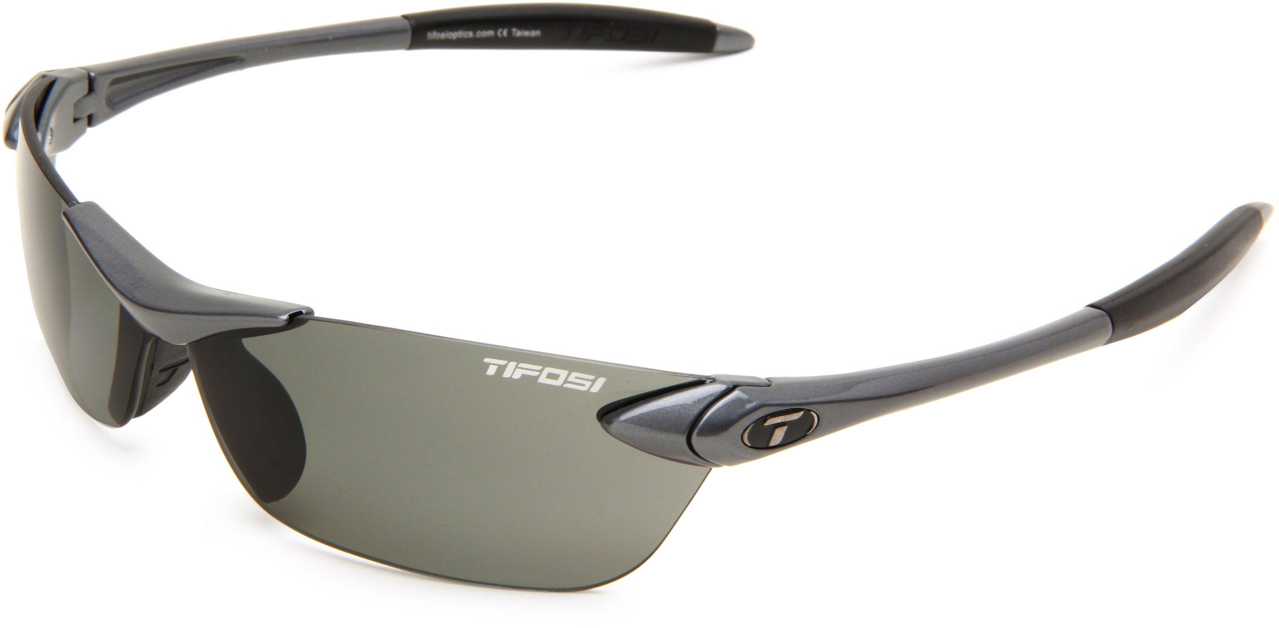 Tifosi Seek 0180500351 Polarized Wrap Sunglasses,Gunmetal Frame/Smoke Lens,One Size