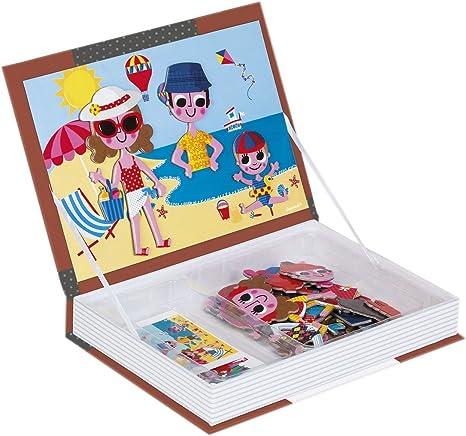 Janod Spielzeug Magnetibook Magnetbuch 4 Jahreszeiten