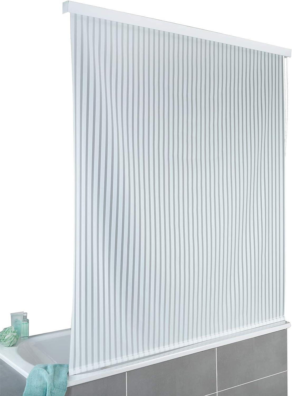 Wenko - Estor para Ducha y bañera (Resistente al Agua y fácil de Limpiar, Aluminio, 132 x 240 x 5 cm), Color Blanco: Amazon.es: Hogar