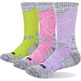 YUEDGE Women's Cotton Wicking Cushion Crew Socks Outdoor Sports Trekking Running Climbing Hiking Socks