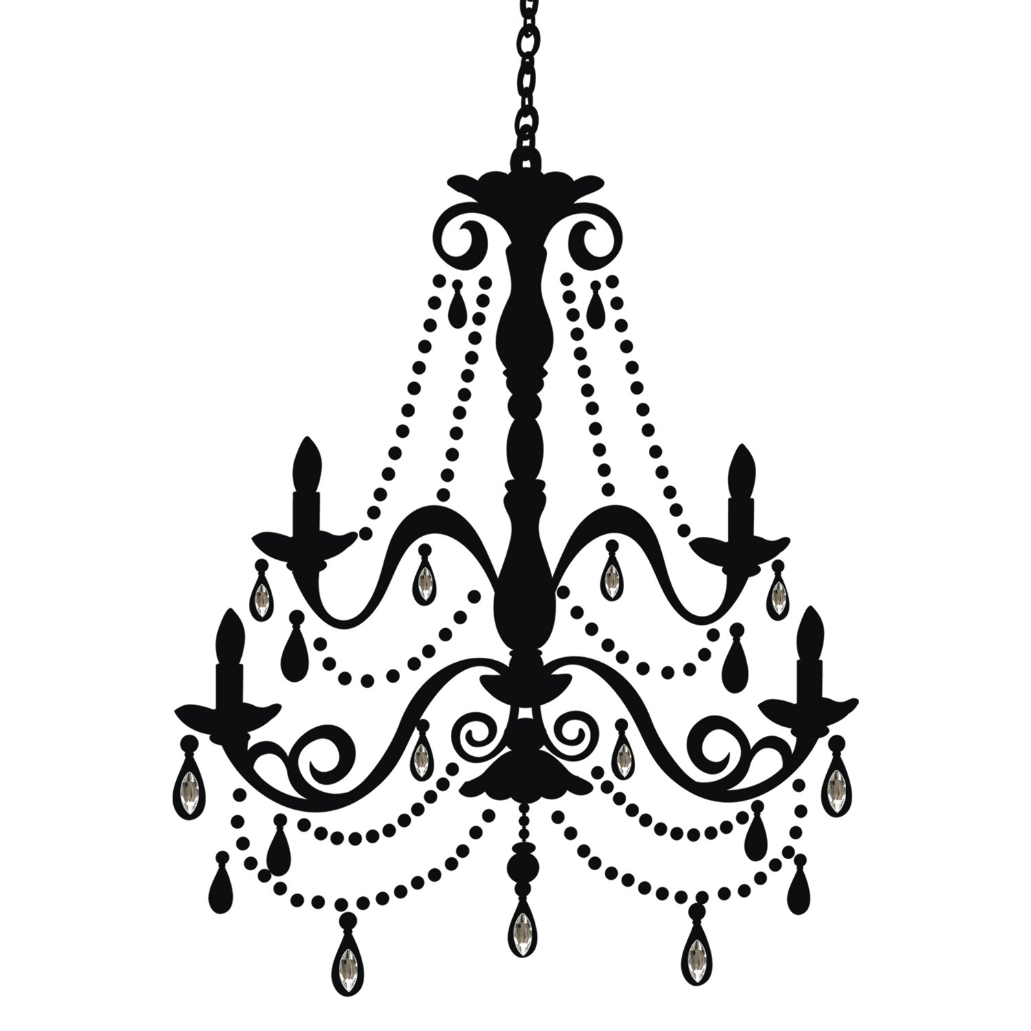 roommates rmk1805gm chandelier with gems peel and stick giant wall decal decorative wall appliques amazoncom