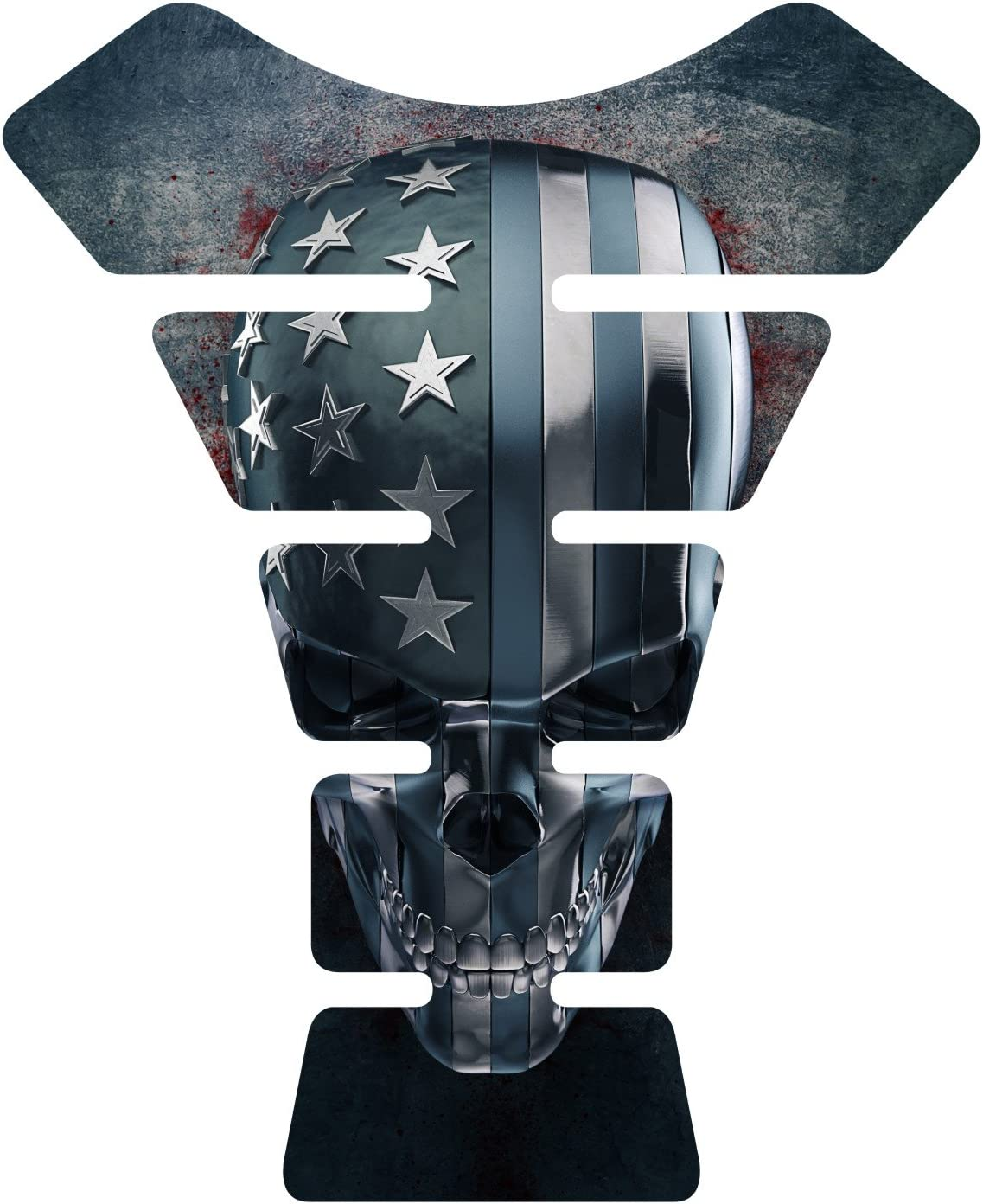 Amazon.com: American Grunge calavera Gel Gas Tankpad ...