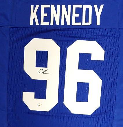 Amazon.com: Seahawks Cortez Kennedy Autographed Blue Jersey MCS ...