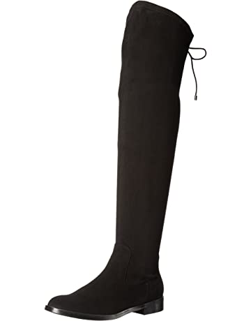 26356dd71a Kenneth Cole REACTION Women's Wind Chime Over The Knee Stretch Boot Low  Heel Winter