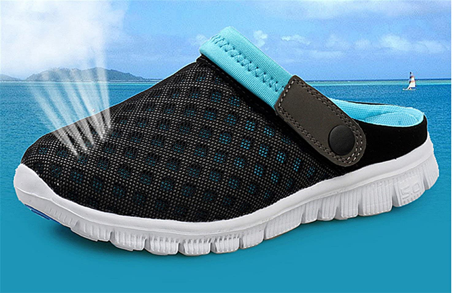Amazon.com | Summer Men Slippers Shoes NEW Fashion Mesh Slippers Unisex Beach Sandals Casual Flat Slip On Flip Flops zapatos hombre Pink 6.5 | Shoes