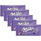 Milka Milk Chocolate, 100g/3.5oz (ALPINE MILK, PACK OF 5)