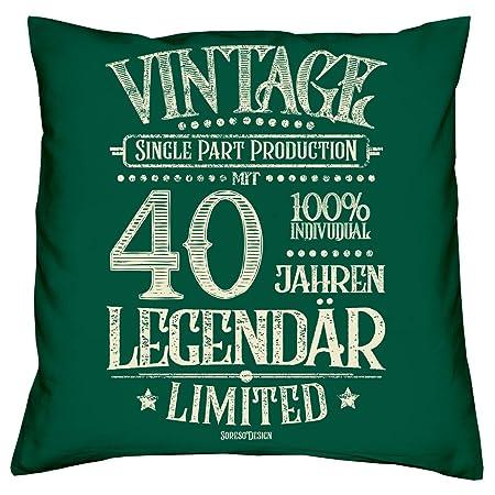 Soreso Diseño con 40 Años Legendär Set de Regalo - Cojín y ...