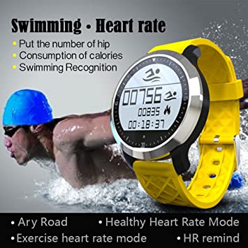 Amazon.com : AndroFIT F69 Sports Smart Watch IP68 Heart Rate ...