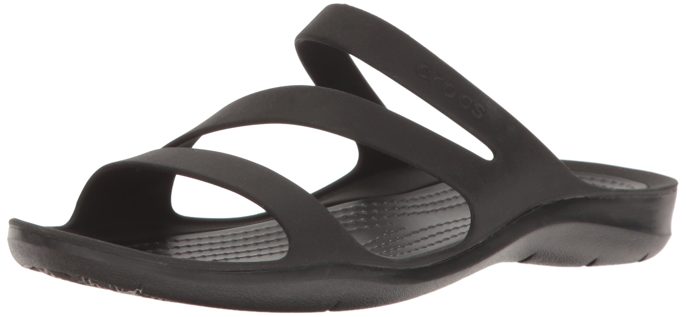 Crocs Women's Swiftwater Sandal, Black/Black, 8 M US