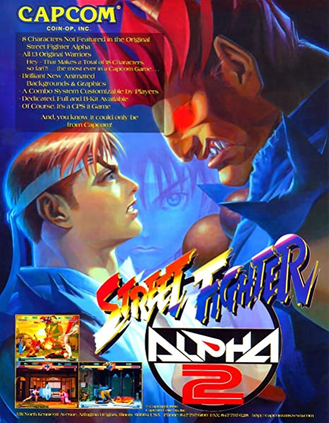 SonicPrint Arcade Games Room Poster Street Fighter Alpha 2