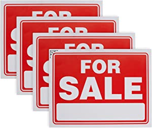 """Ram-Pro 9"""" X 12"""" Sale Sign for Car and Auto Sales - Rust Free Clear and Visible Text Long Lasting with A Space to Hand Write, (4 Pack)"""