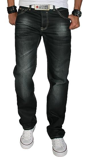 9853ca141969d Rock Creek RC-2064 Jeans de designer pour homme, ciré, couleur délavée.