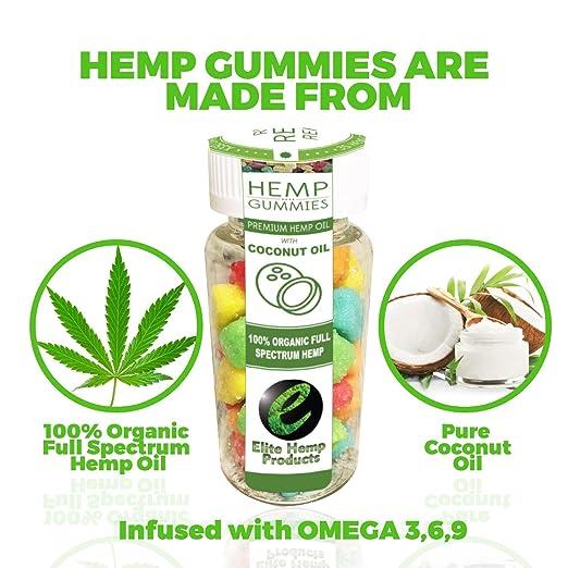 35ct Premium Hemp Gummies - 30mg Per Gummy bear - Organic Full Spectrum  Hemp - Stress Relief,