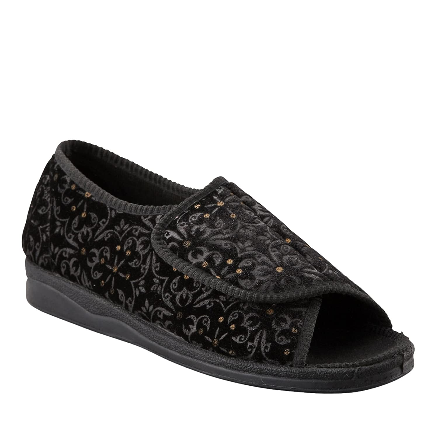 05bfdf181af3 Foamtreads Marla Black Tapestry Women s Slippers  Amazon.ca  Shoes    Handbags