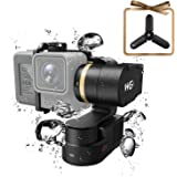FeiyuTech WG2 Updated Waterproof Wearable Action Camera Gimbal for GoPro Hero 6 5 4 Session, AEE, SJCam, YI 4K and Similar Dementions, Come with Carrying Case and Tripod, APP Control