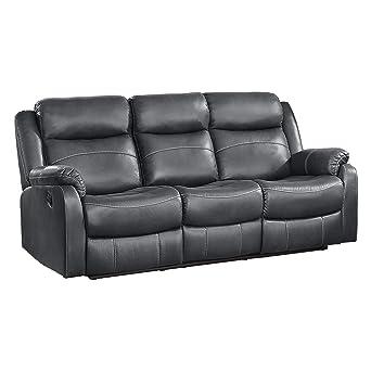 Amazon.com: Homelegance Yerba doble plano reclinable sofá ...