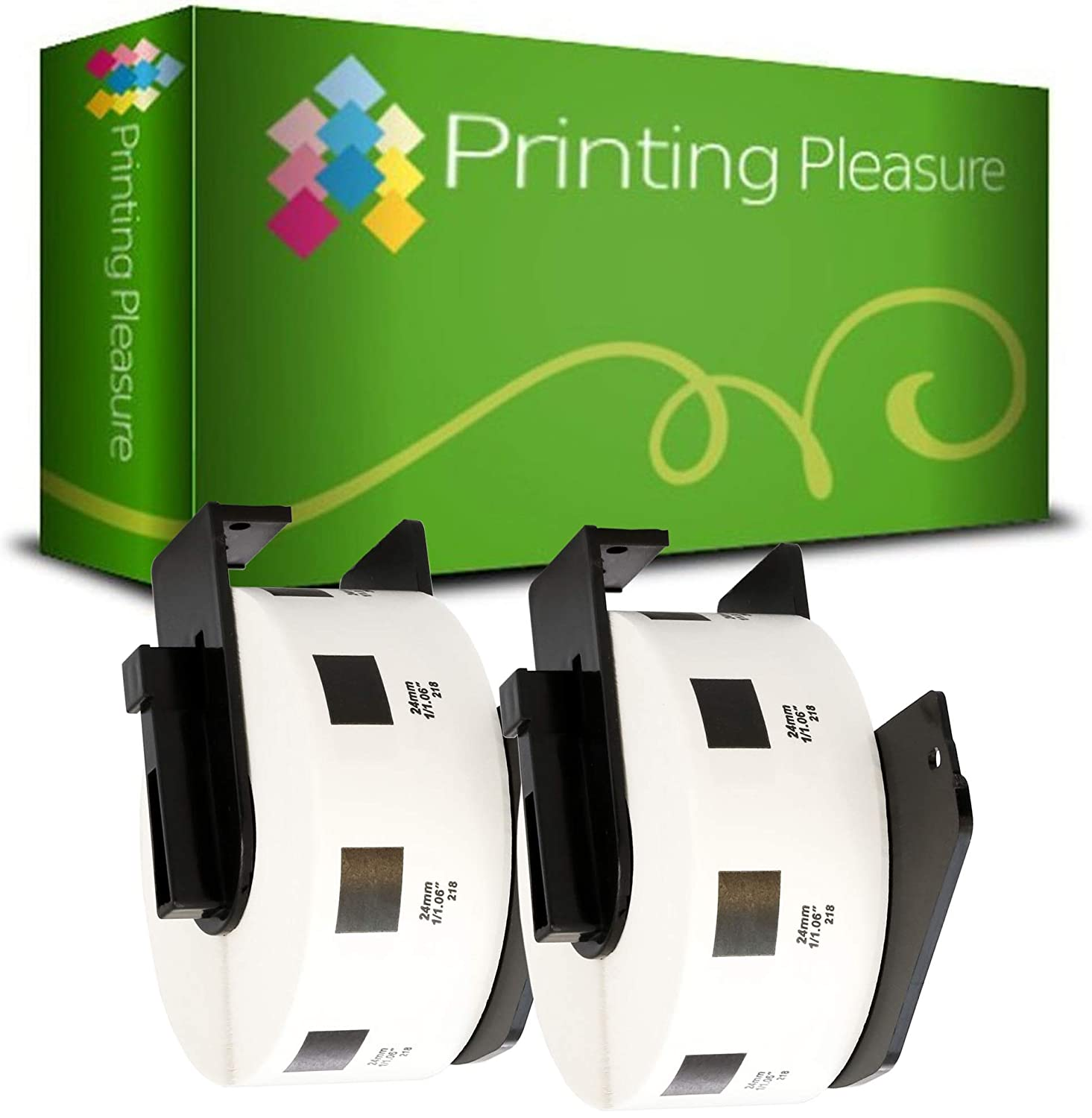 Thermal Paper Roll Printing Pleasure DK22205 Continuous Address Labels compatible with Brother P-Touch QL-500 QL-550 QL-570 QL-700 QL-720 QL-800 QL-810 QL-820 QL-1050 QL-1100 QL-1110 62mm x 30.48m