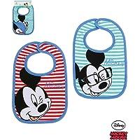 Disney Mickey Babies Bavoirs : lot de 2 2016 Collection - bleu