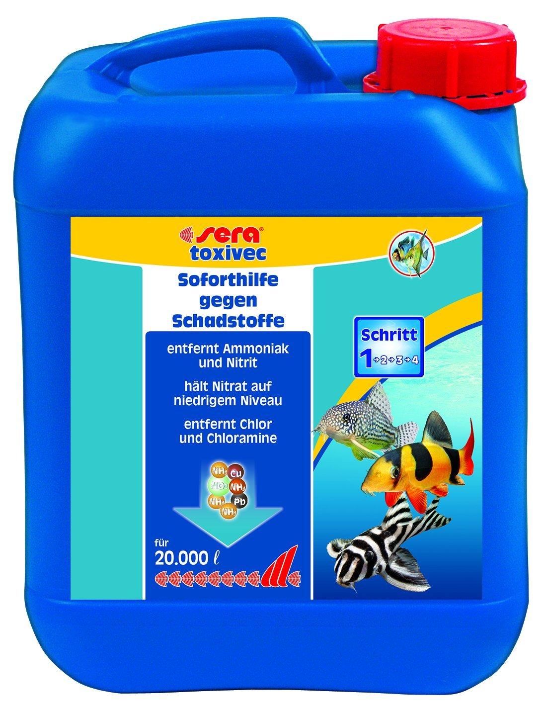 SERA Traitement de l'Eau pour Aquariophilie Toxivec 5 L 3004