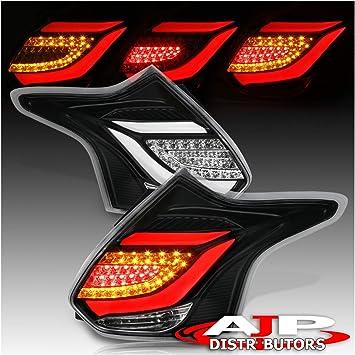 Ford Focus ST 2012-2014 5DR LED Tail Light Red Streak Chrome Housing Smoke Lens