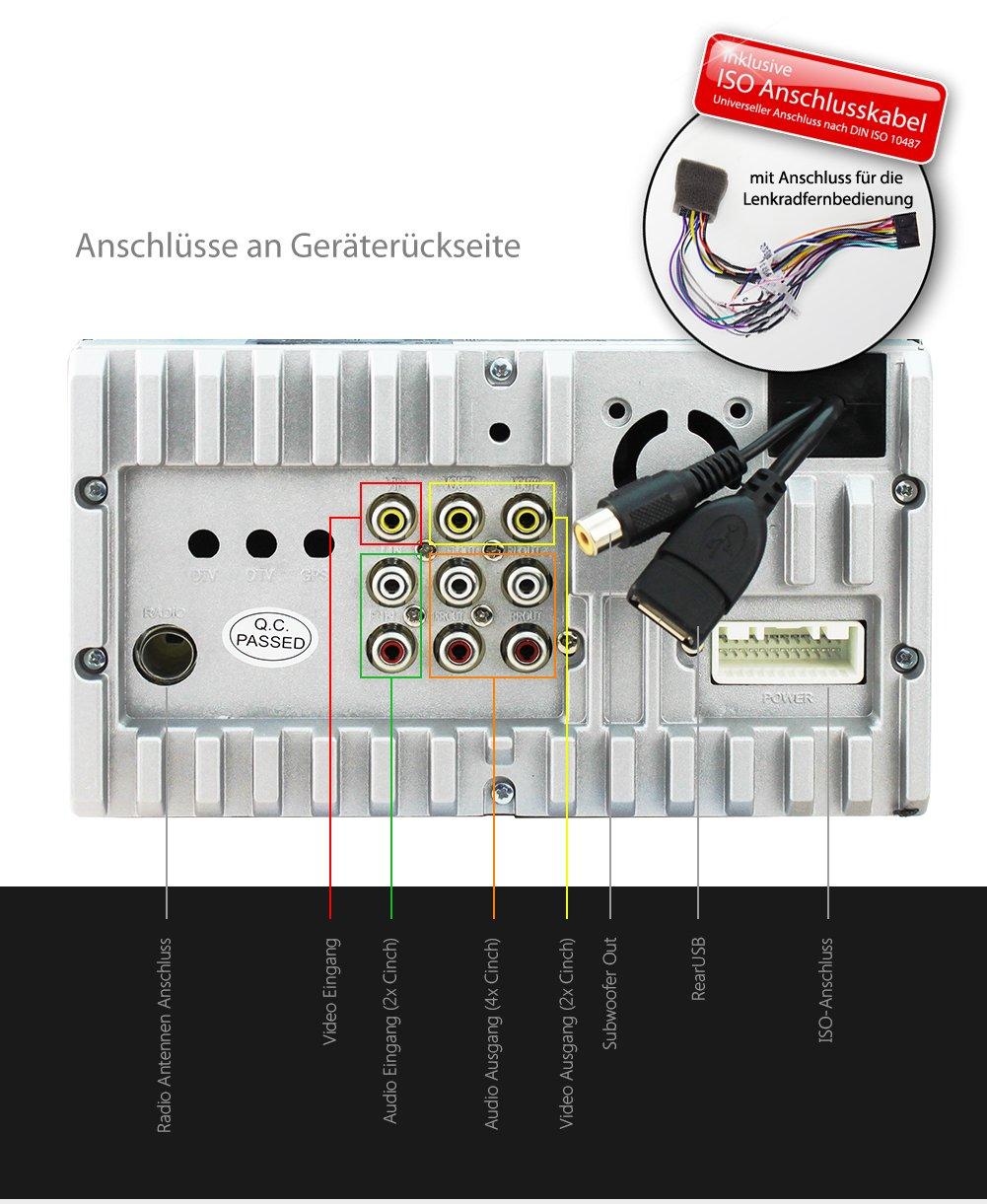 XOMAX XM-2VRSU736BT car stereo: Amazon.co.uk: Electronics