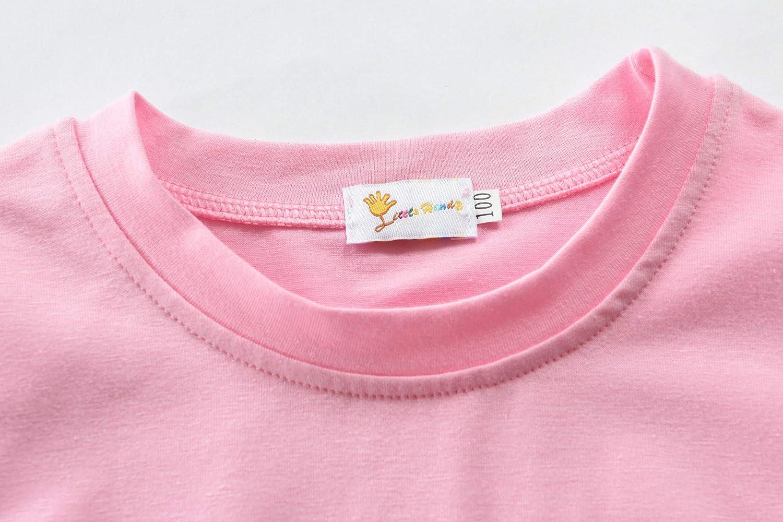 DHASIUE Pigiama da Ragazze Rosa Unicorno Bambini Pjs Vestiti Del Bambino 100/% Cotone Pigiameria 2 Pezzi Abiti Manica Lunga Abbigliamento Da Notte 1-7 Anni